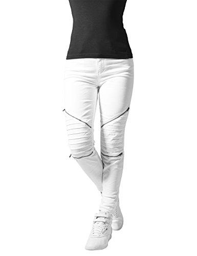 Urban Classics Damskie spodnie ze streczu dla rowerzystów, biały (White 220), 29W