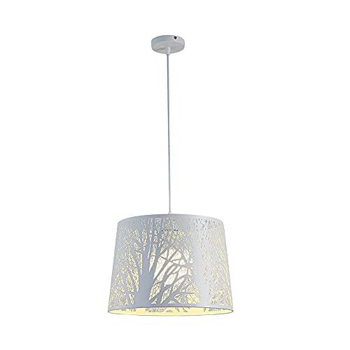 SDFDSSR Simple Y Creativo E27 Candelabro Woods Artistic Conception Lámpara Colgante Lámpara Colgante De Hierro Forjado De Una Sola Cabeza Lámpara Colgante Ajustable Adecuado para Dormitorio(25Cm)