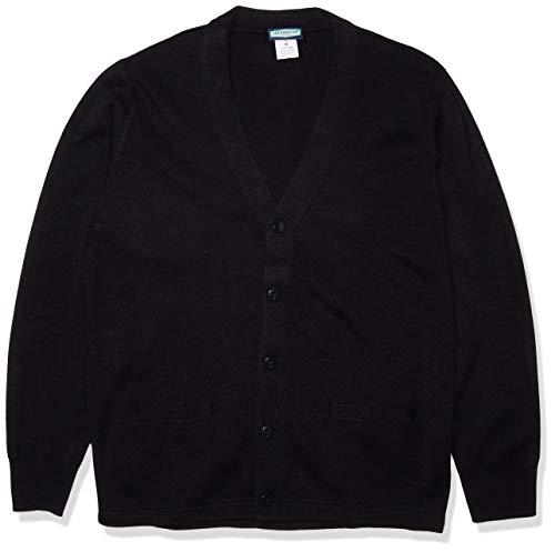 Classroom School Uniforms Men's Adult Unisex Cardigan Sweater, Dark Navy, Medium