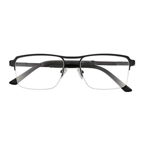 YAO YU Gafas de Lectura Fotocromáticas de Mcompleto de Aleación, Lentes Protectores Uv Gafas Polarizadas, Bisagras de Metal Cómodas Unisex Lectores de Sol/Negro/.75