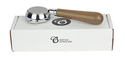 Bodenloser Siebträger für ROCKET-Espressomaschinen - Walnuss-Griff, 21g Sieb - 3 Tassen