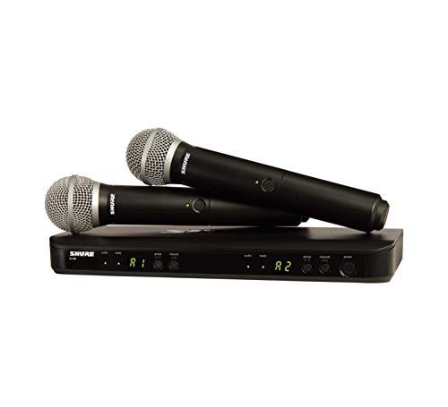 Shure BLX288/PG58 H9 | Dos micrófonos de mano PG58 Sistema inalámbrico de mano de doble canal