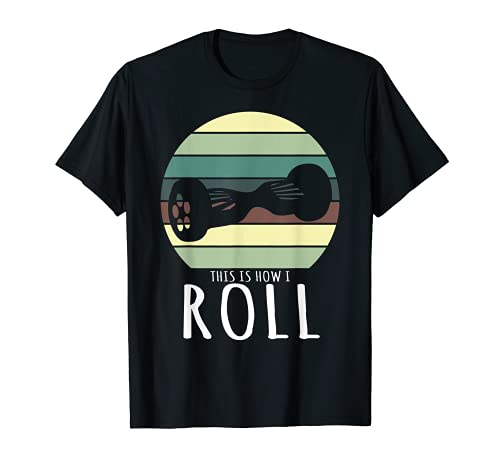 This Is How I Roll Retro Hoverboard Design T-Shirt