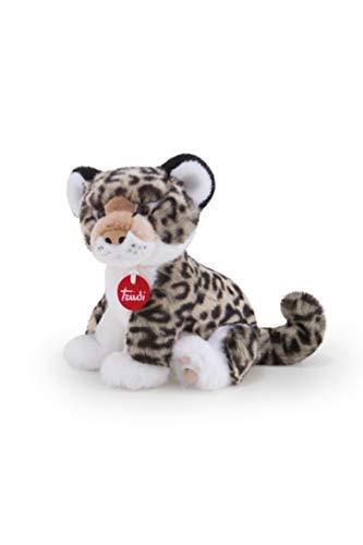 Trudi Leopardo Grigio Leopoldo S Peluches Animali del Bosco, Foresta E Savana, Multicolore, S, 8006529276010