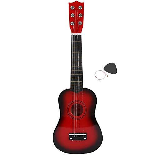 Ukelele para principiantes, 21 pulgadas, guitarra para niños, instrumentos musicales, guitarra de Hawaii, apariencia de grano de madera, juguete educativo para niños, regalo(Sunset color)