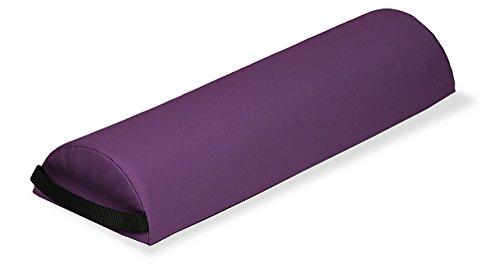 EARTHLITE Bolster Pillow Half Jumbo – Durable Massage Bolster, 100% PU Upholstery incl. Strap Handle/Professional Quality for Massage Tables/Back Pain Relief, Amethyst