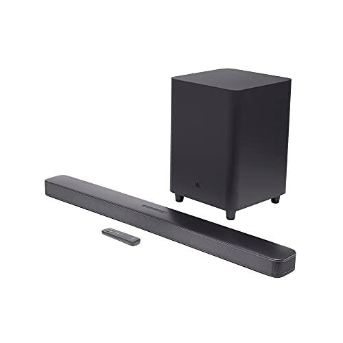 """JBL Bar 5.1 - Soundbar with Built-in Virtual Surround, 4K and 10"""" Wireless Subwoofer (2019 Model)"", black (JBL2GBAR51IMBLKAM)"