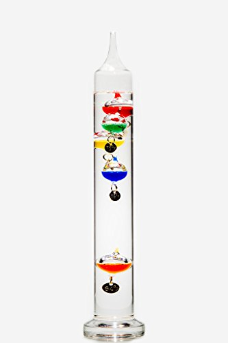 """Glassic Gifts Galileo Thermometer (13"""" Tall)"""