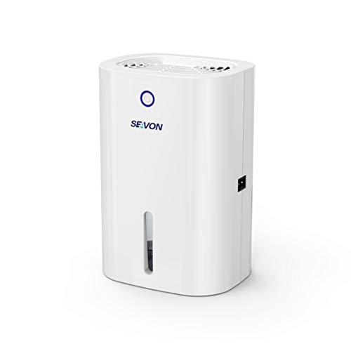 New SEAVON 800ml Electric Mini Dehumidifier, 1700 Cubic Feet (175 sq ft), Auto Shut Off, Portable an...