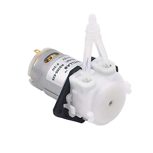 INTLLAB 12V DC DIY Peristaltic Liquid Pump Dosing Pump for Aquarium Lab Analytical 3mm ID x 5mm OD