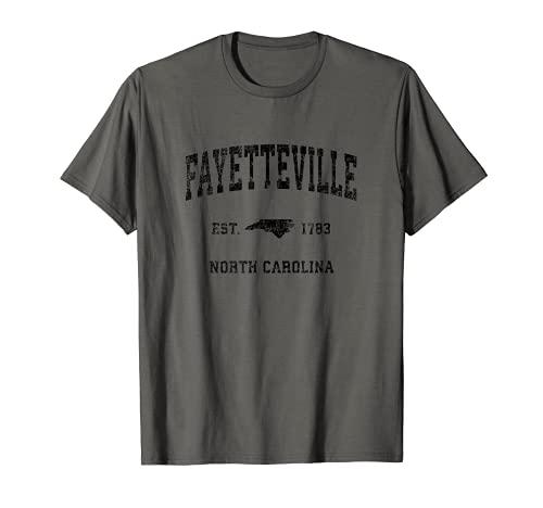 Fayetteville North Carolina NC Vintage Sports Design Black P T-Shirt
