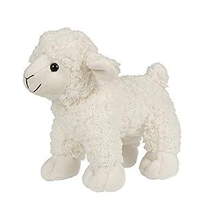 Uni-Toys - Cordero Blanco - 19 cm (Longitud) - Oveja, Animales de Granja - Animal de Peluche, BH-13057