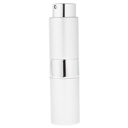 MagiDeal 15ml Atomiseur Bouteille de Parfum Vide Rechargeable Flacon Pompe de Pulvérisation pour Voyage Sac à Main - Argent