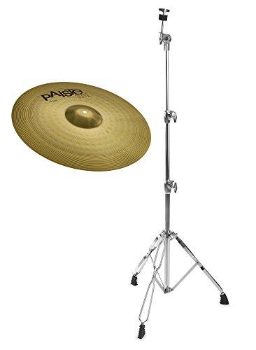 """Paiste 101 Brass 20\"""" Ride Set (MS63 Messing, ausgewogener Klang, für jede Stilrichtung geeignet, inkl. gerader Beckenständer)"""