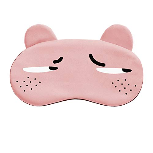 Gnzoe Sleep Mask, Eye Mask for Sleeping, Cotton Cute Cartoon Faces Pattern Blindfold-Despise Pink-6