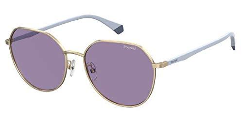 Polaroid PLD 4106/g/s Sunglasses, HZJ/KL Gold Lilac, 59 Womens