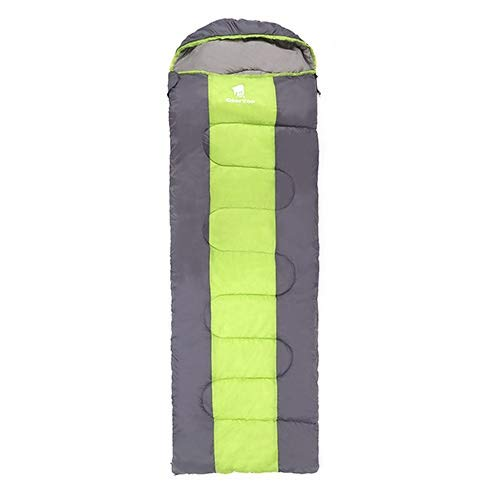 Unbekannt Nemo Schlafsack GeerTop Ultralight Camping Schlafsack unten for Erwachsene Wasserdichtes Fluff Schlafsäcke mit Kompressionssack Winter-Tourismus Gefüllt (Color : Green Right Zip)
