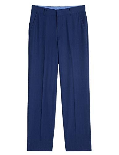 Izod boys Patterned Flat Front Dress Pant, Bright Blue, 20