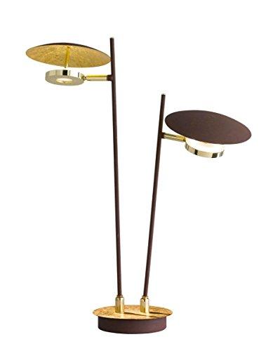 WOFI Lámpara de mesa Integriert, 48 W, Dorado, 12 x 45 x 510 cm