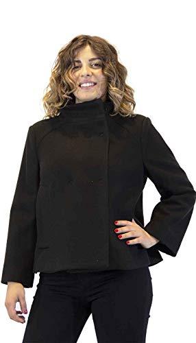 Silvian Heach kurzer glockenförmiger Frauenmantel aus Stoff. A/I 2020/21 PGA20800CP GRÖSSE EU/IT M