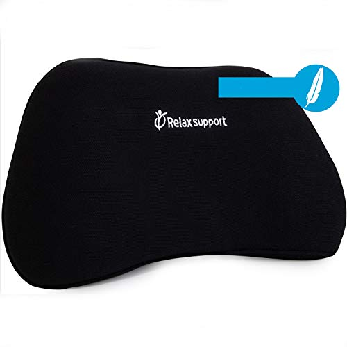 RS1 Soft Back Support Pillow by Relax Support – Lumbar Pillow Upper and Lower Back for Chair Back Pain Uses ArcContour Special Patented Technology...