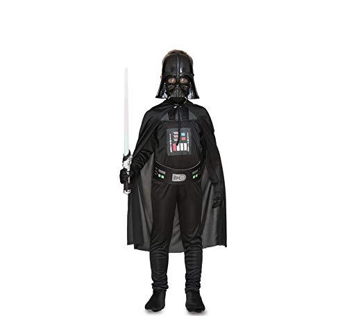 Fyasa 706514 T02   Disfraz de galáctico malvado para niños de 7 a 9 años, multicolor, talla M
