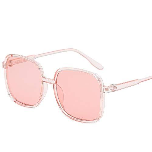 Gafas De Sol Vintage Square Mujeres Hombres Gafas De Sol Gafas De Sol con Montura De Lujo Uv400 C5Pink