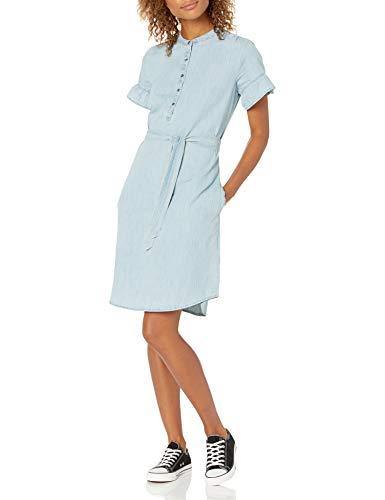 Goodthreads Jeans Flatterärmeln Kleid, Leichte Waschung, S