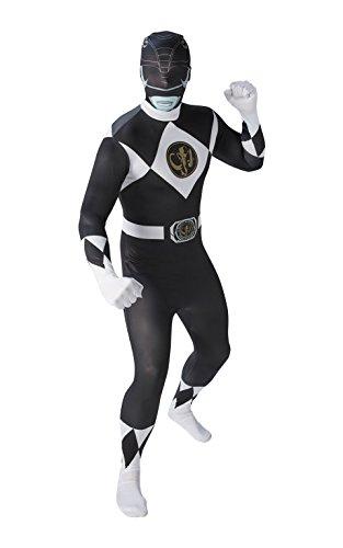 Rubie's - Disfraz oficial de Ranger negro de 2ª piel, para adulto, talla mediana