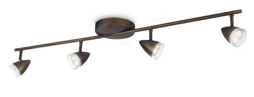 Philips myLiving Maple LED Aufbauspots, EEK A+, 4-flammig, antik bronze 532140616