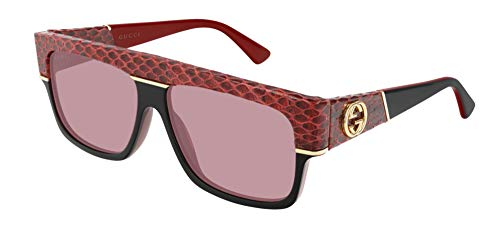 Gucci Gafas de Sol GG0483S Red/Red 60/14/140 hombre