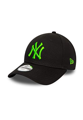 New Era Kids MLB Kinder 9Forty Adjustable Cap NY Yankees Schwarz Grün, Size:Child