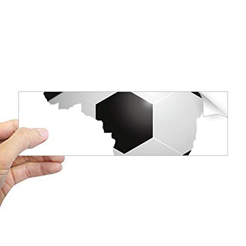 DIYthinker Voetbal Brazilië Kaart Vorm Brazilië Slogan Rechthoek Bumper Sticker Notebook Window Decal