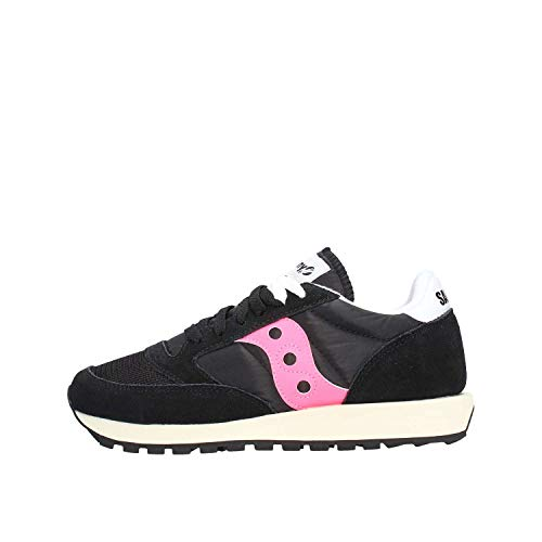 Saucony Jazz Original Vintage, Sneakers Unisex-Adulto, Black Pink 61, 38.5 EU