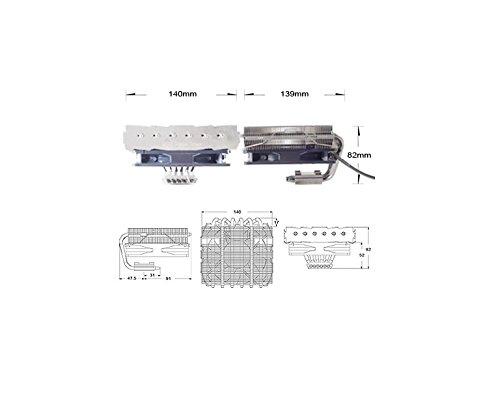 SilverStone SST-NT06-PRO-V2 - Dissipatore Nitrogon per CPU 6 Heatpipe, 120mm PWM, Intel/AMD, AM4 pronto
