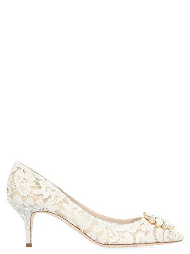 Luxury Fashion | Dolce E Gabbana Donna CD0066AL19880005 Bianco Decolleté | Stagione Permanente