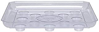 CWP 2PACK SQDS-1200 Heavy Gauge Footed Square Carpet Saver Saucer, 12-Inch by 12-Inch, Clear