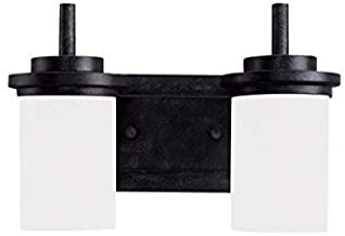 Sea Gull Lighting 44661-839 Winnetka Two Light Wall / Bath Vanity Style Lights, Blacksmith Finish
