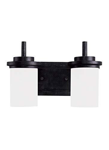 Sea Gull Lighting 44661-839 Winnetka Two Light Wall / Bath Vanity Style Lights, Blacksmith Finish