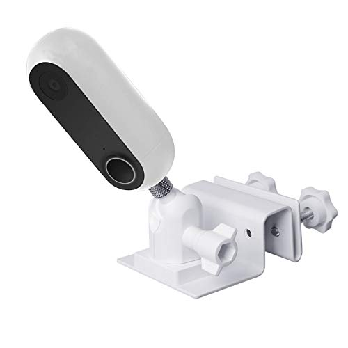 TIUIHU Gutter Mount for Canery Flex Indoor Outdoor HD Security Camera Wall Mount Bracket Compatible with Canary Camera - Wider Perspective Outdoor Bracket (White)