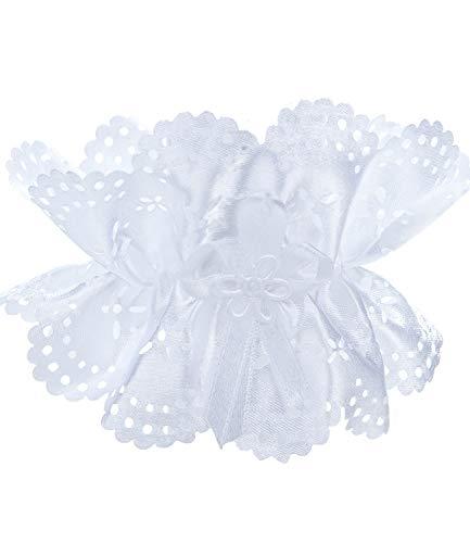 Princess Taufkleid Tropfschutz für Kerzen M 10 weiß Größe bis 5cm Durchmesser