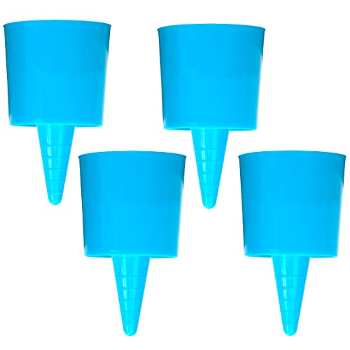 Iconikal Beach Sand Coaster Cup and Beverage Holder Set, 4-Pack (Blue)