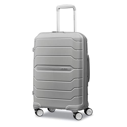 Samsonite Freeform Hardside Expandable with Double Spinner Wheels, Light Grey, Carry-On 21-Inch
