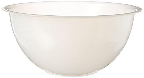 Paderno World Cuisine Polypropylene Mixing Bowl, 14-1/4-Quart, White