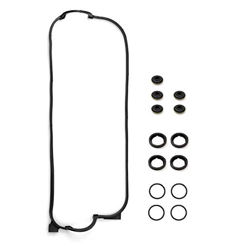 Vincos Engine Valve Cover Gasket Set w/Spark Plug Tube Seals and Grommets Replacement for 12341PT0000 VS50365R VCHO012 036-1791 Compatible with Accord DX LX 2.2L 1990-1998