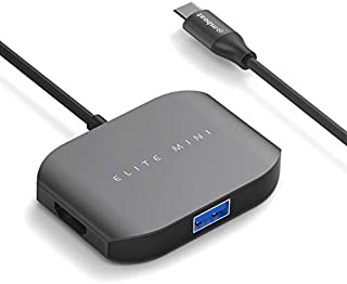 mbeat Elite Mini USB Type-C Multi-Port Adapter Aluminum Design (USB2.0 3.0 HDMI) - Space Grey