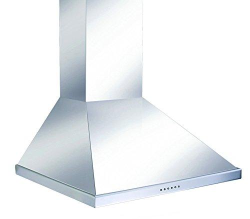 Pyramis SQUARE CHIMNEY 60NN1 Wandhaube / 60 cm / Abluftleistung 650 cbm/h / Edelstahl