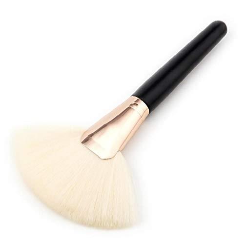 1pc Maquillage Pinceau Maquillage Fibre De Nylon Grand Ventilateur En Forme De Brosse (blanc)