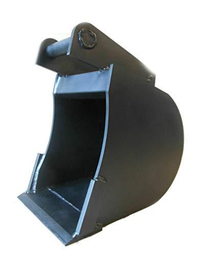 Tieflöffel Baggerschaufel Minibagger Bagger Radlader Räum-Schaufel Arbeitsbreite: 60 cm/Tiefe: 50 cm/Aufnahme: MS03