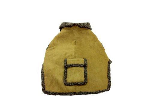 CPC Velourslederimitat und Trinkgeld Berber Mantel/Jacke für Hunde, groß, Caramel